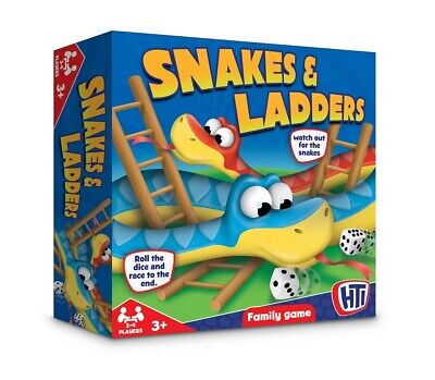 Traditional Snakes And Ladders Childrens Board Game Classic Kids Family Gift  • 6.99£