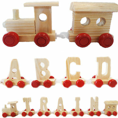 Personalised Kids Name Wooden Train Letters Scrabble Alphabet Children Baby Gift • 0.99£