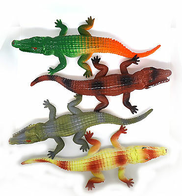 Toy Crocodile Plastic Tactile Model Safari Figure Alligator Nature Reptile Zoo • 7.99£