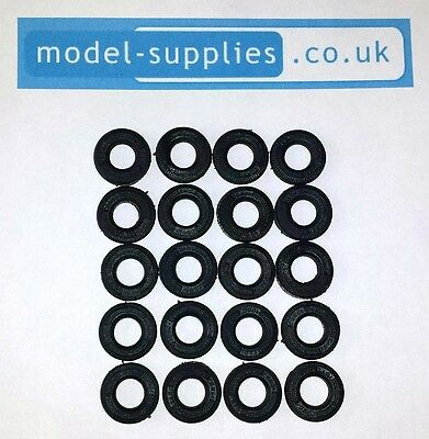 Corgi 15mm O/D Black Reproduction Treaded Rubber Tyres For Cars Post 1967 • 8.61£