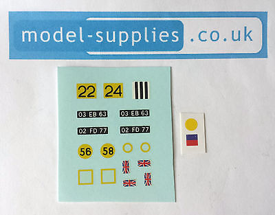 Dinky 668 Foden Army Truck Reproduction Waterslide Transfers & Stickers Set • 4.19£