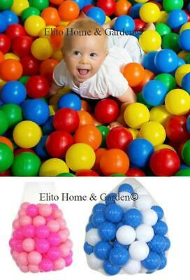 New Plastic Balls For Children For Ball Pits Kids Multi Coloured Toys Play Pool • 7.99£