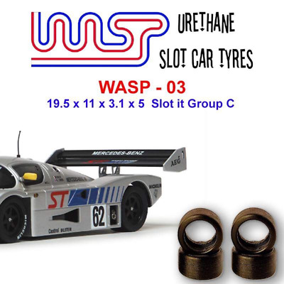 Urethane Slot Car Tyres X 4 Wasp 03 19.5 X 11 X 3.1 X 5 Multi Brand Fit • 6£