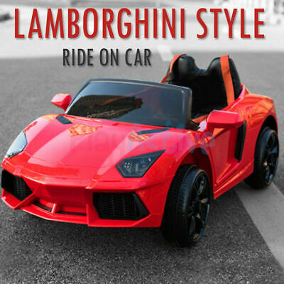 Kids Ride On 12v Electric Lamborghini Style Battery Remote Control 2.4g Toy Car • 99.99£