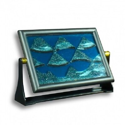 Sand Picture - Coloured Framed Sand And Liquid Between Glass Mesmerising  • 9.99£
