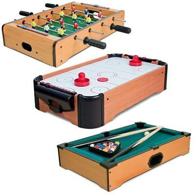Wooden Table Top Mini Football Pool Air Hockey Players Family Game Toy Xmas Gift • 100.95£
