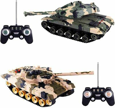 Heavy Large Interactive Twin Battle Tank Car Rc Radio Control Infrared Toy Uk • 34.95£