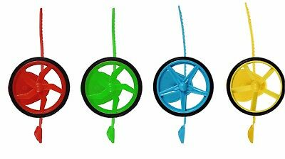 Mini Spin The Wheel Toy Game Ripcord Kids Launcher Fun Gift Set Spinning Xmas • 5.39£