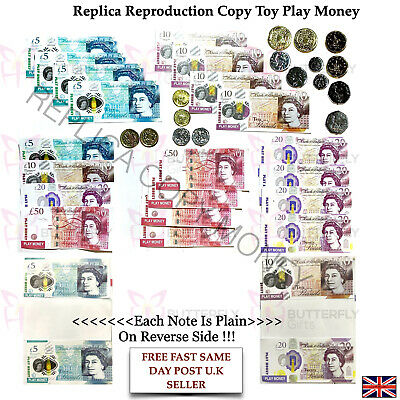 Children's Kids Play Pretend Toy Money Role Shops Cash New £5 , £10 & £20 Notes • 3.49£