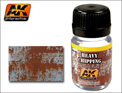 AK WEATHERING - HEAVY CHIPPING EFFECTS ACRYLIC FLUID 35ml • 4.99£