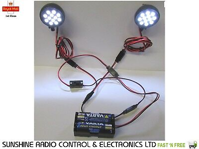 RC Model Lights 24 Ultra Bright LED Lighting Kit Inc. All Cables For Planes Cars • 21.86£