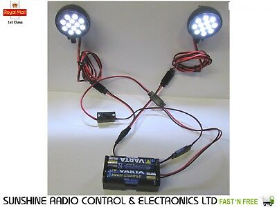 RC Model Lights 24 Ultra Bright LED Lighting Kit Inc. All Cables For Planes Cars • 22.08£