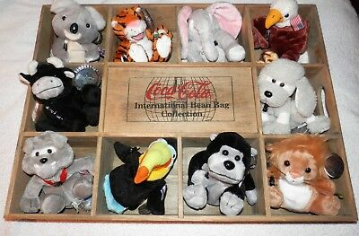COCA COLA Brand International Bean Bag Collection Unplayed With Condition • 40£