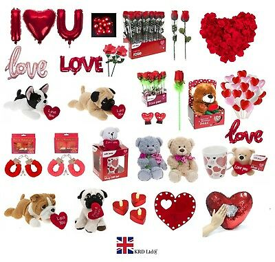 VALENTINES DAY ROMANTIC GIFTS His & Her Love Heart Cute Bears Valentine Gift UK • 5.28£