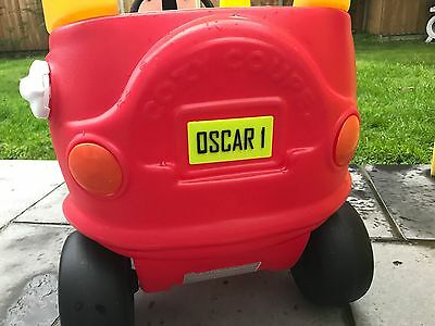 3D Printed Personalised - Little Tikes Number Plate For COZY COUPE CAR • 3£