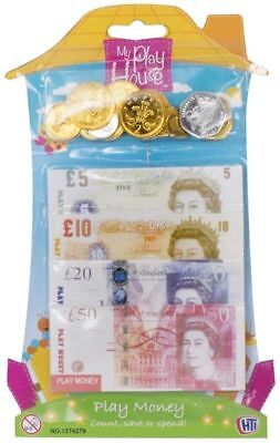 Childrens Kids Play Fake Pretend Money Role Shop Cash £ Pound Notes Coins Toy • 30£