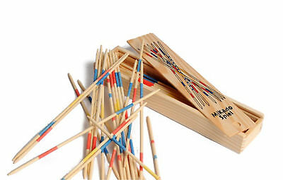 Mikado Wooden Pick Up Sticks Kids Traditional Retro Game Party Favour Favor Gift • 2.99£
