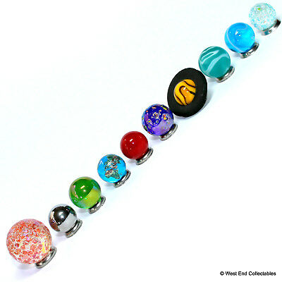Mini Solar System Marble Set - 14-22mm Orrery Globe Planet Glass Marbles -Earth  • 24.99£