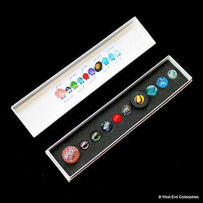 Boxed Miniature Solar System Orrery Globe Planet Marbles Set- 14-22mm Collection • 34.99£