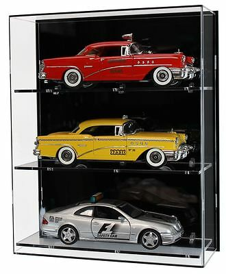 Acrylic Wall Display Case For Three 1:18 Scale Model Cars • 105.98£