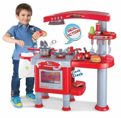 69 Pcs Large Children Kids Kitchen Cooking Role Play Pretend Toy Cooker Oven Set • 32.95£