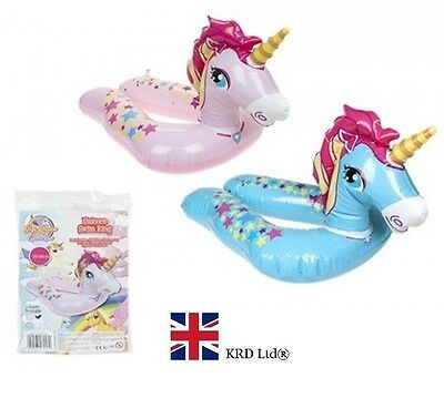 22  INFLATABLE UNICORN SPLIT SWIMMING RING Water Float Raft Pool Fun Beach UK • 3.19£