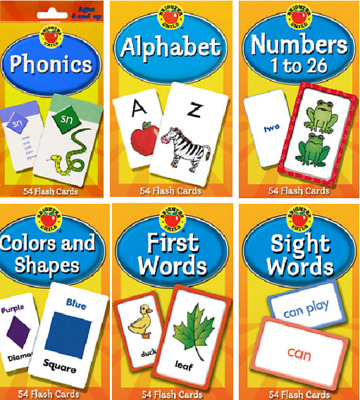 Children's Flash Cards Kids Educational Pre School Learning Brighter Child Gift • 4.99£
