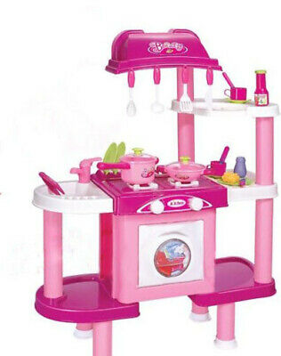 Kids Kitchen Role Play Set With Cooker Oven Light And Sound 36+ Accessories   • 28.99£