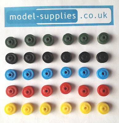 Dinky Reproduction Truck Size Late Plastic Single Patterned Road Hubs 5 Colours • 3.98£