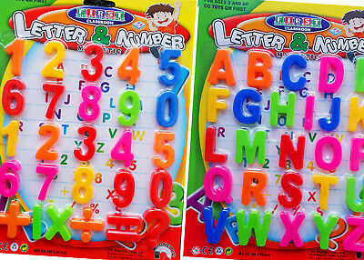 Kids Childrens Magnetic Numbers And  Letters Learning Set Toy Fridge Magnets • 2.49£