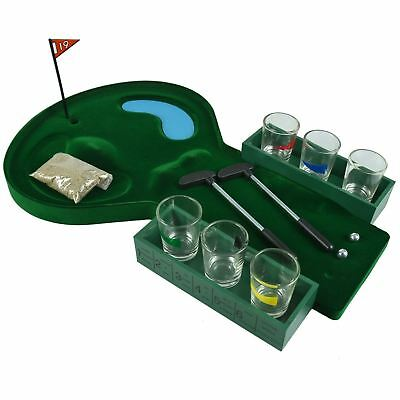 New 19 Hole Mini Golf Drinking Game Glasses Shots Putter Adults Drink Party Fun • 9.99£