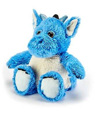 Warmies Cozy Plush Microwavable BLUE HORNED DRAGON Lavender Scented Heatable Toy • 13.90£