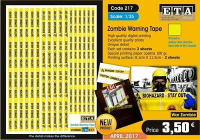 Zombie Warning Tape- 1/35 Scale • 5.99£