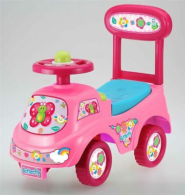 Push Along Sit On Ride On Car Quality Walker Toy Butterfly Theme • 19.95£