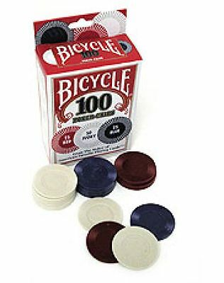 Poker Chips 100 Bicycle Casino Games Poker Magic Tricks  Stack Durable Washable • 7.14£