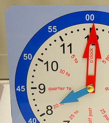 Educational Children's Tell The Time Teaching And Learning Clock - 2 Sizes  • 4.95£