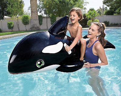 Bestway  Large Inflatable Jumbo Whale Rider Ride On Beach Swimming Pool Lilo • 9.99£