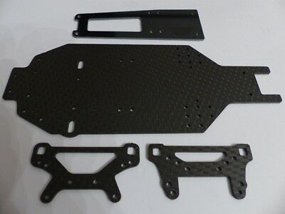 HD Carbon Chassis, Top Deck, Damper Bridge For 236mm Tamiya TA-02SW Chassis 934 • 53.44£
