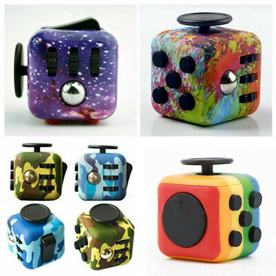 Camo Fidget Cube Spinner Toy Children Desk Adults Stress Relief Cubes ADHD UK • 3.75£