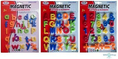 Magnetic Toy Alphabet Letters & Numbers Fridge Magnets Kids Learning Teaching • 2.99£