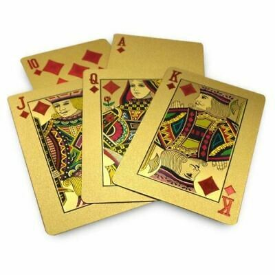 24K GOLD Plated Plastic Poker Cards Waterproof £50 Playing Cards • 4.99£