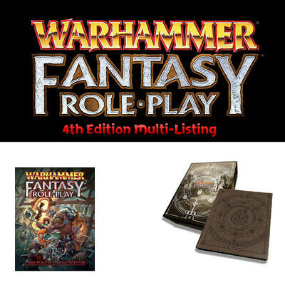Warhammer Fantasy Roleplay - 4th Ed. Book Multi-Listing - NEW - WFRP • 22.99£
