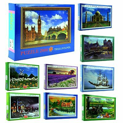 1000-2000 Piece Jigsaw Puzzles Games Animals Landscapes Cities Educational Toys • 8.99£