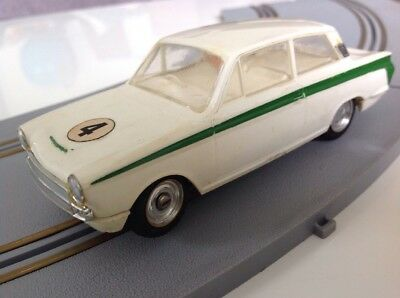 Lotus Cortina, Boxed Airfix Slot Car, Excellent C/W Bumpers And Chrome • 125£