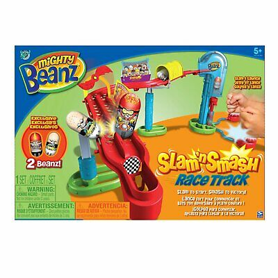 Mighty Beanz Slam 'n Smash Race Track Exclusive 2 Beanz! • 24.99£