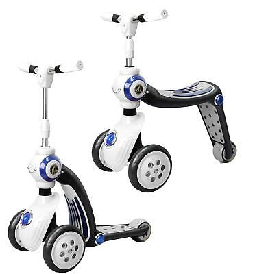 Child's 2-in-1 Toy Ride On Scooter And Trike Switch From Trike To Scooter White • 32.95£