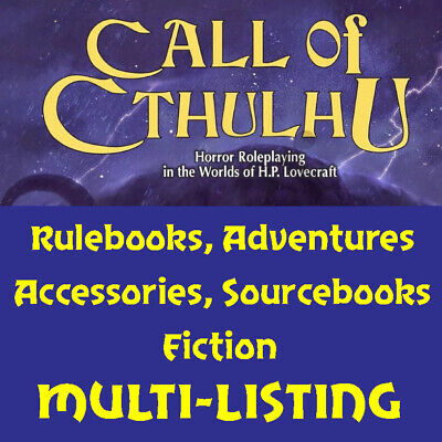 Call Of Cthulhu Role Playing Game - Various RPG Books - Multi-Listing - NEW • 23.99£