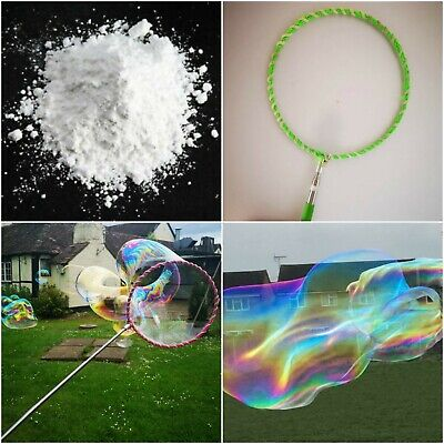 Bubble Wand Solution Kids Toys HOOP LOOP Large Giant Professional Liquid Huge • 7.99£