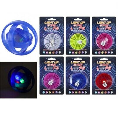Light Up Gyro Loops Flashing LED Visual Effect Fidget ADHD Autism Kids Adult Toy • 2.99£