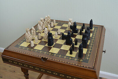 Isle Of Lewis Chess Set Pieces Only - Black And Cream -  Board Not Included. • 45£